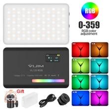 Ulanzi VIJIM VL120 RGB Video Light LED Camera Light Full Color 3100mAh Battery Dimmable 2500K-9000K Bi-Color Panel Light Studio