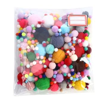 1 paczka Mix rozmiary puszyste miękkie pompony Handmade dzieci zabawki dekoracje ślubne DIY pompony czuł piłka krawiectwo dostaw tanie i dobre opinie CN (pochodzenie) DIY Felt Ball Tak ( 50 sztuk) = 100 Sztuk