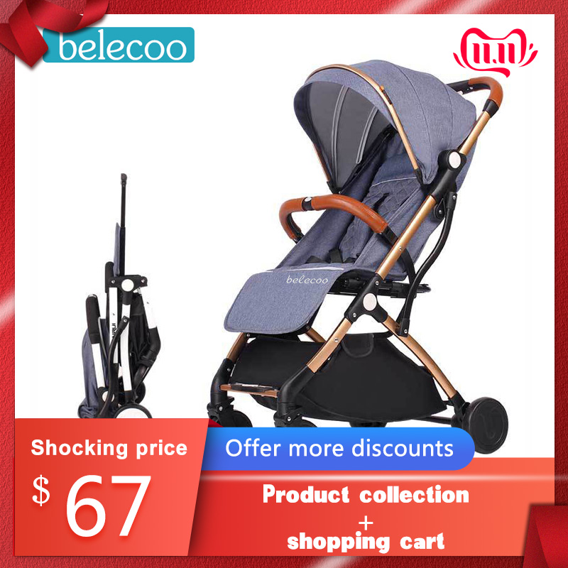 Belecoo Baby Stroller Stroller Folding Folding Portable Trolley Free Shipping