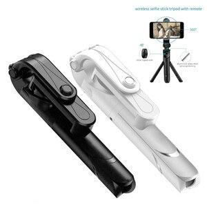 Image 2 - Vara de selfie de bluetooth com tripé de plástico liga auto vara selfiestick telefone smartphone selfie vara para iphone samsung huawei