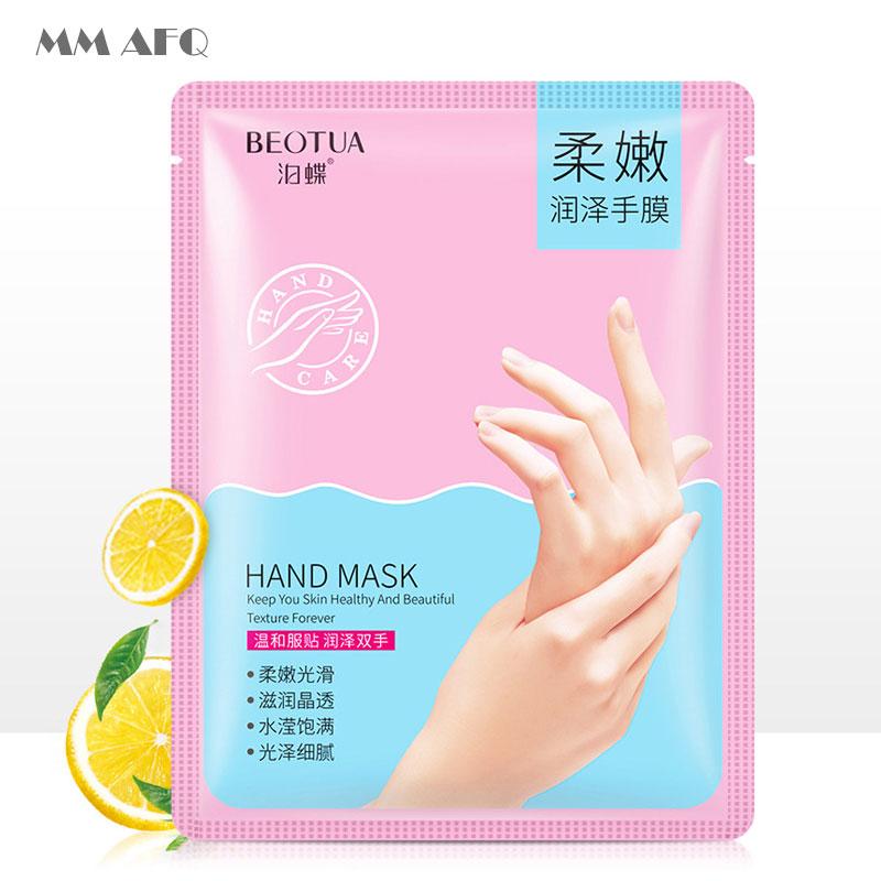 BEOTUA Honey Lemon Hand Mask Moisturizing Skin Intense Moisture Treatment That Restores Suppleness To Dry Rough Overworked Hand