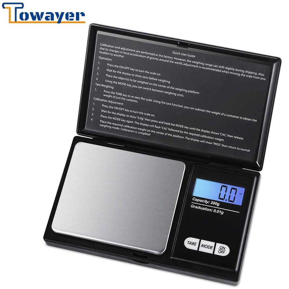 Кухонные мини-весы ювелирные изделия из нержавеющей стали 0,01 г электронные Вес весы цифровые карманные весы золото грамм Баланс Вес весы