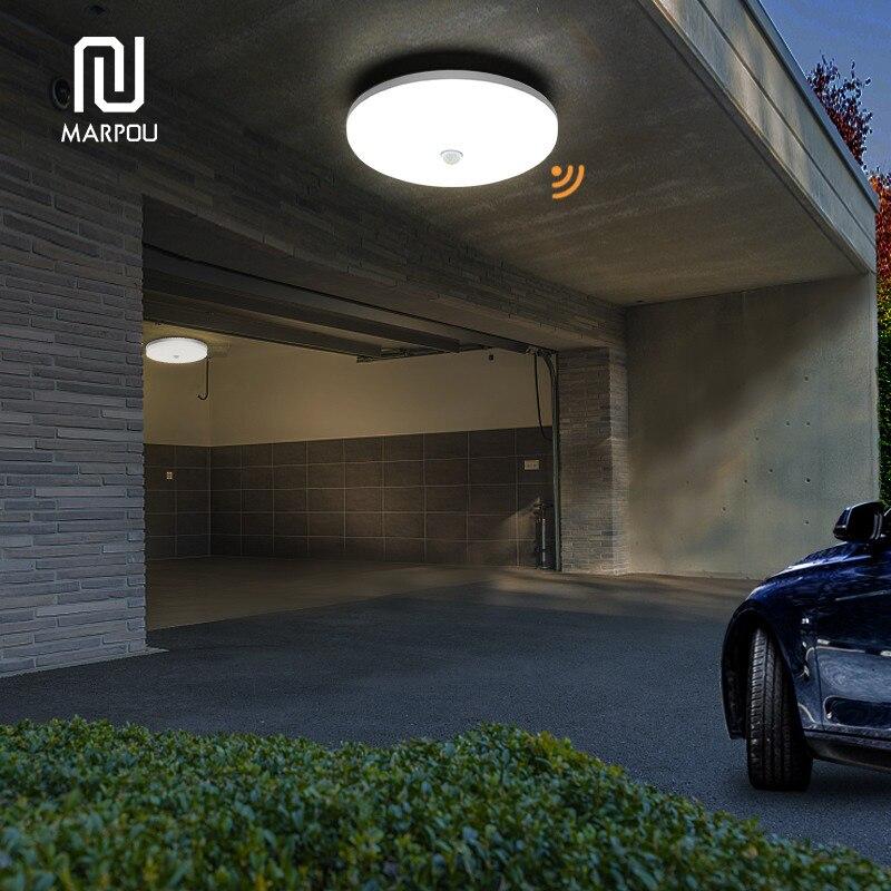 LED Ceiling Lamp PIR Motion Sensor 220V 110V 9W 13W 18W 24W 36W Warm White Cold White Mordern Ceiling Lights For Foyer Hallways 6