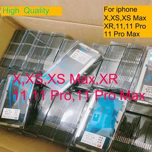 10Pcs/lot Frame wtih glue adhesive for iPhone 11 Pro Max X XS MAX XR 5.8/6.5inch Middle Bezel replacement glass frame lcd repair