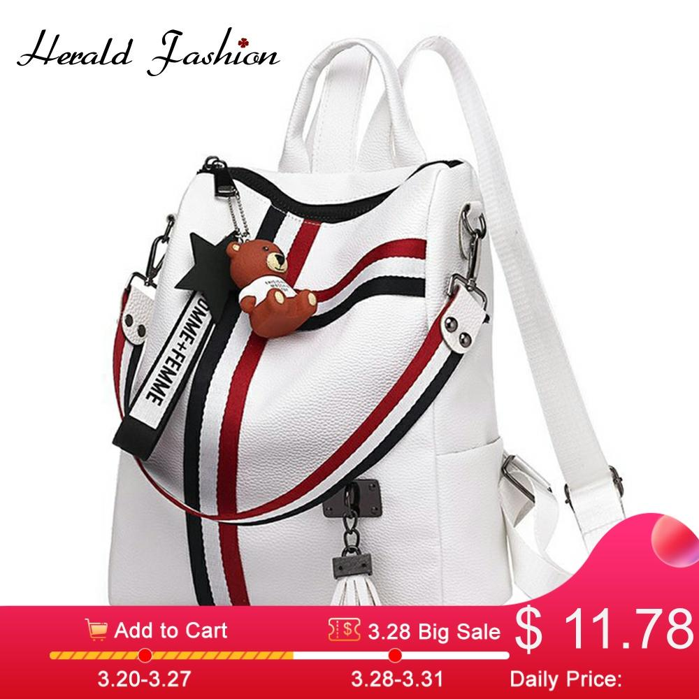 2020 New Women Backpack Retro Fashion Zipper Ladies Shoulder Bag PU Leather High Quality School Bag Anti-theft Backpacks