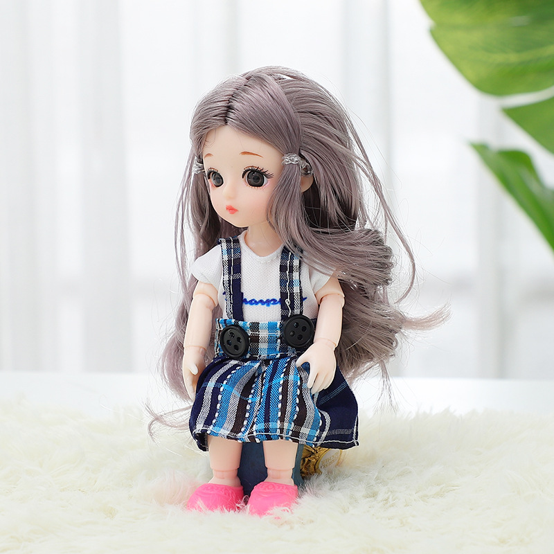 13 Moveable Jointed 16cm 1/12 <font><b>Bjd</b></font> Dolls Fashion Princess Dolls With Dress And Shoes Simulation Dolls Toys Gifts for Girls D1950 image