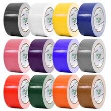 10 м* 50 мм цветная основа клейкие ленты ткань сильная водонепроницаемая лента без следа высокая вязкость ковер ленты для пола DIY украшения