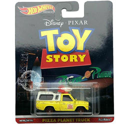 Hot Wheels 1/64 Car PIZZA PLANET TRUCK Toys Story Movie'Car Real Rides Metal Diecast Model Car