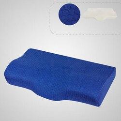 Poduszka z pianki memory pościel ochrona szyi powolne powracanie do kształtu z pianki memory w kształcie motyla poduszka zdrowie szyjki macicy rozmiar w 50*30CM|Poduszki ortopedyczne|Dom i ogród -