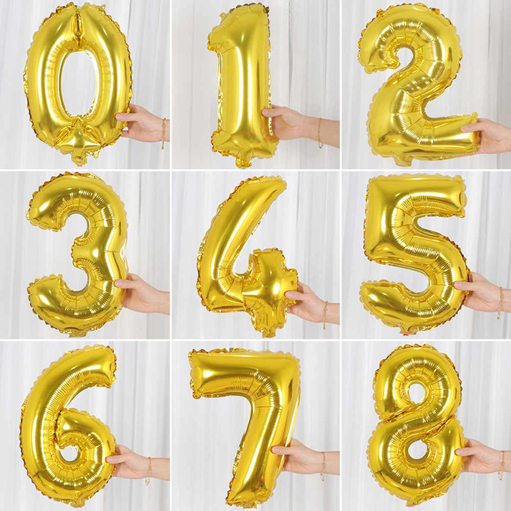 16/32 นิ้วลูกโป่ง Baby Shower Helium Foil บอลลูนทองเงินสีชมพูสีฟ้าหลัก Globos วันเกิด PARTY งานแต่งงานบอลลูน