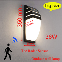 Outdoor Led Wasserdichte Wand Lampe Radar Motion Sensor Courty Garten Veranda Licht 36W Hohe Helligkeit AC110V/220V