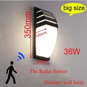 Radar Motion Sensor Outdoor LED Waterproof Wall Lamp Exterior Wall Lamps