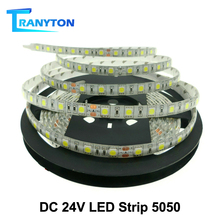 24В светодиодной ленты 5050 гибкий свет RGB водить 60leds/м 5м/много.