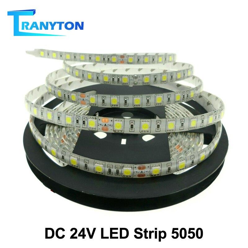 Taśma LED 24V 5050 nie wodoodporna/wodoodporna 60 leds/m RGBW RGBWW elastyczna lampa LED 5 m/partia.