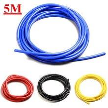 Tuyau en Silicone pour aspirateur de voiture, 5M, noir, rouge, jaune, 3mm/4mm/6mm/8mm
