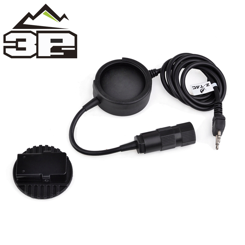 Airsoft Militry Large Push-to-Talk Button Tactical Headphone New ZTCI Tactical PTT New Headset Plug Hole Accessories Z138