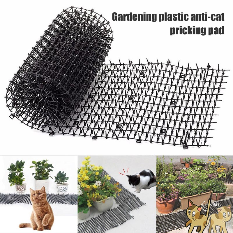 2M Garden Protective Cat Net Plastic Thorn Prevent Cat Mat No Hurt To Pets Durable Protect Mesh Anti Cat Pet Protection Netting