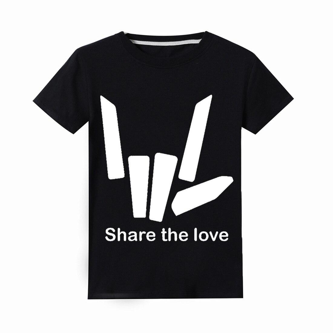 Alan Walker/детская одежда для мальчиков детские футболки с короткими рукавами футболка с цветочным принтом «Share the love» топы для девочек