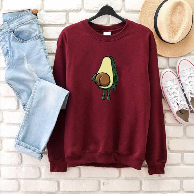 Avokado grafik kazak Kawaii komik Streetwear kadın kıyafetleri vejetaryen sevgilisi sloganı kazak kız Ulzzang jumper damla gemi