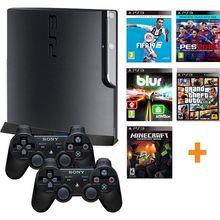 Sony playstation 3 remodelado console de jogos 10 pces jogo digital