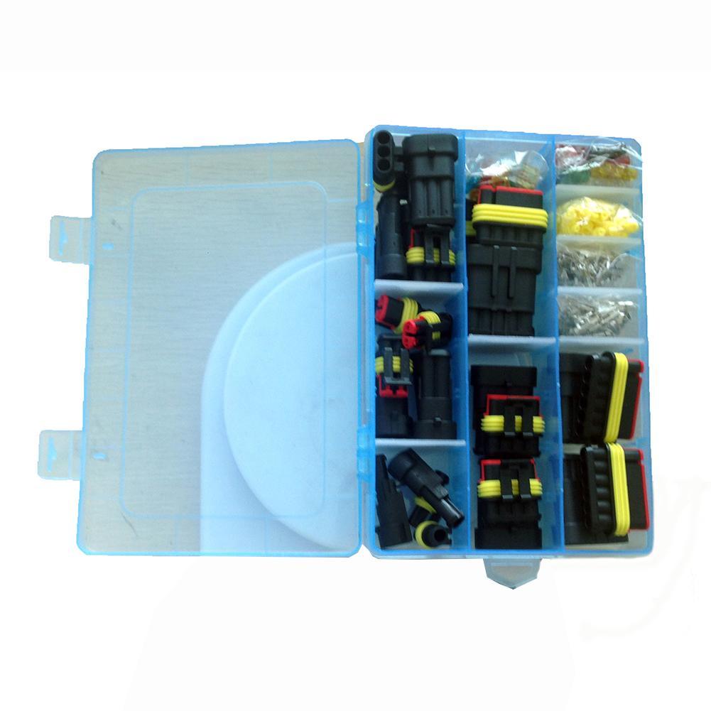 240 шт. проводка сиденья автомобиля водонепроницаемый соединитель мужской женский штырь/гнездо проводки весна терминал набор