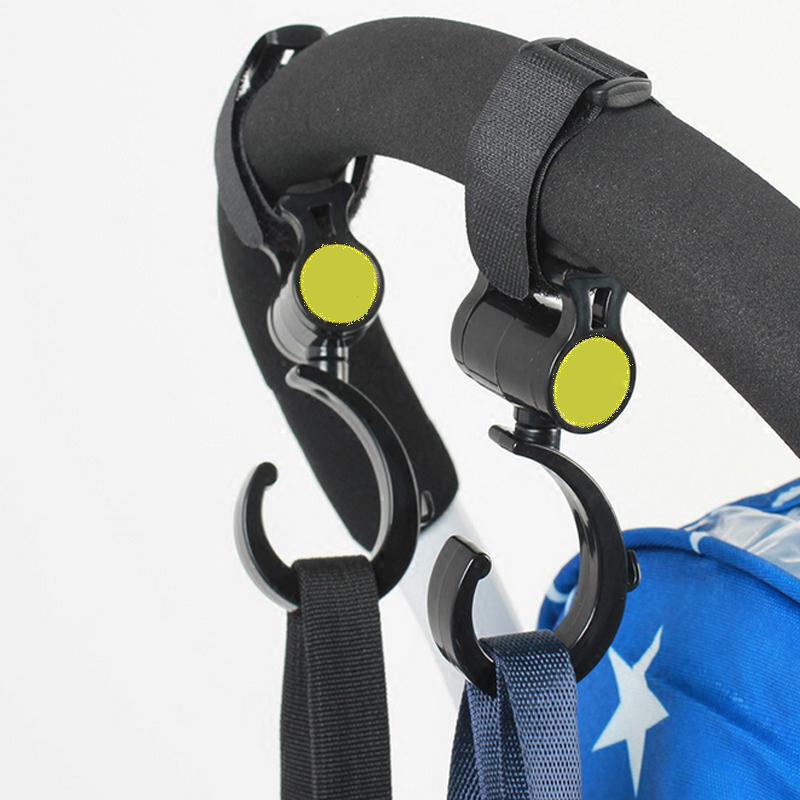2 шт./партия, аксессуары для детской коляски, пластиковый высокий черный крюк, качественная многофункциональная коляска