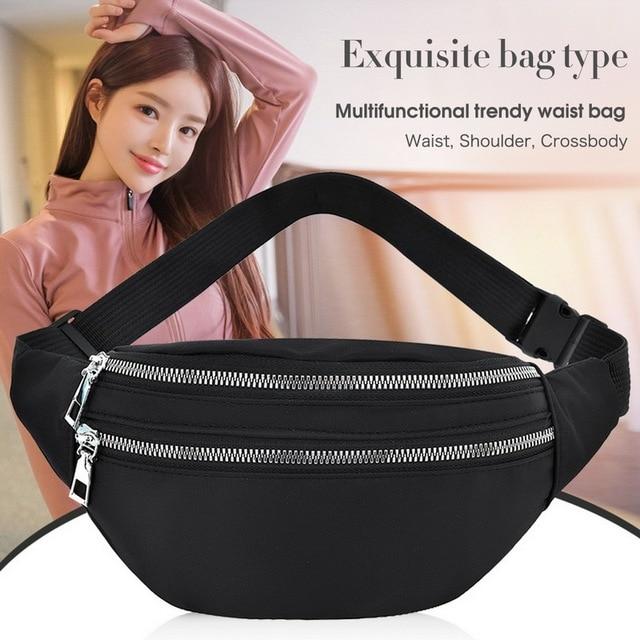 2020 New Waist Bags Waterproof Pack For Women Fashion Bum Bag Ladies Travel Crossbody Chest Bags Unisex Hip Bag Belt Purse 1