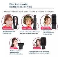 Multifunctional Hair Straightening 5 in 1 Hot Air Brush Styler Comb Brush Negative Ions Hair Styling Tool Blow Dryer Brush 3