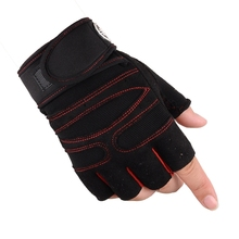 Half Finger Breathable Non-Slip Weightlifting Hand Gloves Red M Code Fitness Weightlifting  Gloves M Code professional love heart style anti slip breathable half finger riding gloves red size m
