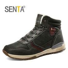 SENTA/ зимняя обувь большого размера мужские ботинки Нескользящая водонепроницаемая обувь плюшевые зимние ботинки мужская обувь удобная прочная долговечная подошва