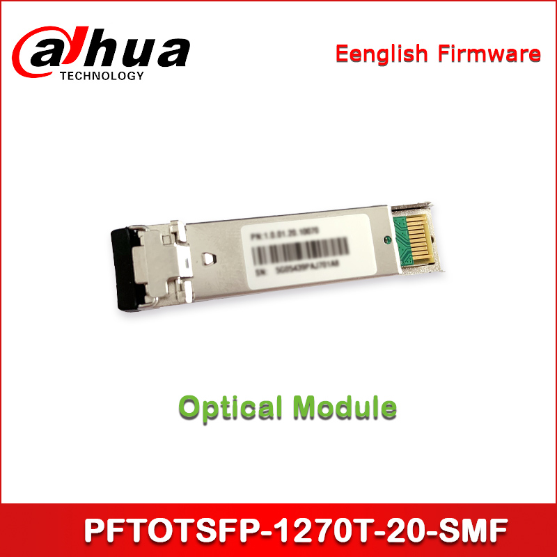 Dahua Optical Module PFTOTSFP-1270T-20-SMF SFP+-TX_1270nm/RX_1330nm-Single Fiber Bi-directional-10G-20Km
