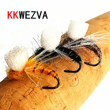 KKWEZVA 24PCS fly fishing lure dry floating type insect similar to artificial bait carp Tackle