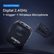 Sinco-sistema de microfono inalámbrico lavalier, para smartphone, portátil, tableta dslr, grabadora, pk comica, g1, g1a1, g1a2