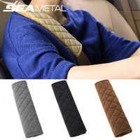 Cubierta para cinturón de seguridad universal de coche, protector de almohadilla suave y de felpa para el hombro, efecto calentador, cojín de protección para el vehículo