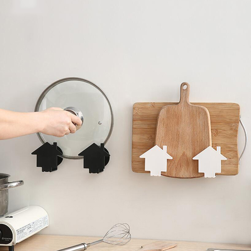 Wall-mounted Pot Rack Wall Free Punching Cutting Board Rack Kitchen Pot Lid Cutting Board Rack Rack Storage Rack