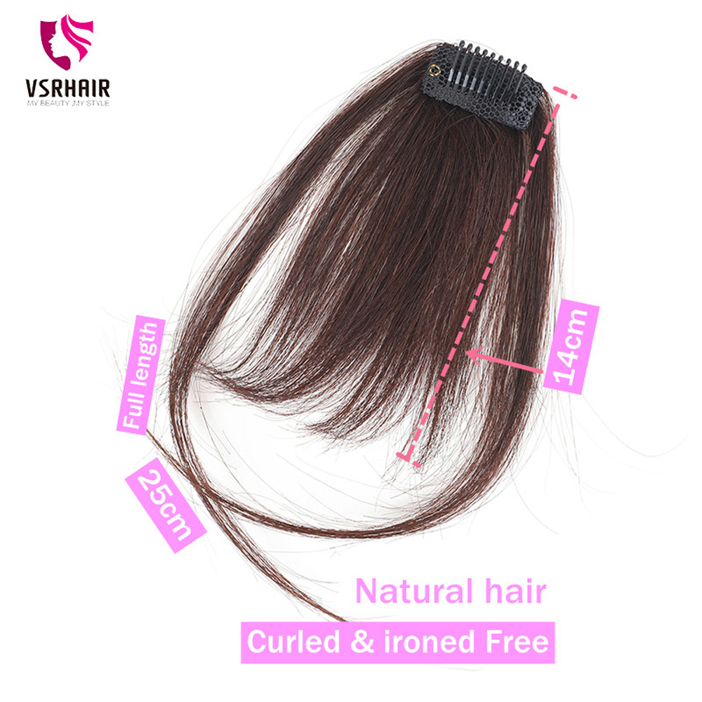 VSR cheveux Bang pince dans les Extensions de cheveux une pièce avant Bang extension de cheveux humains frange perruque noire frange pince à cheveux humains sur frange
