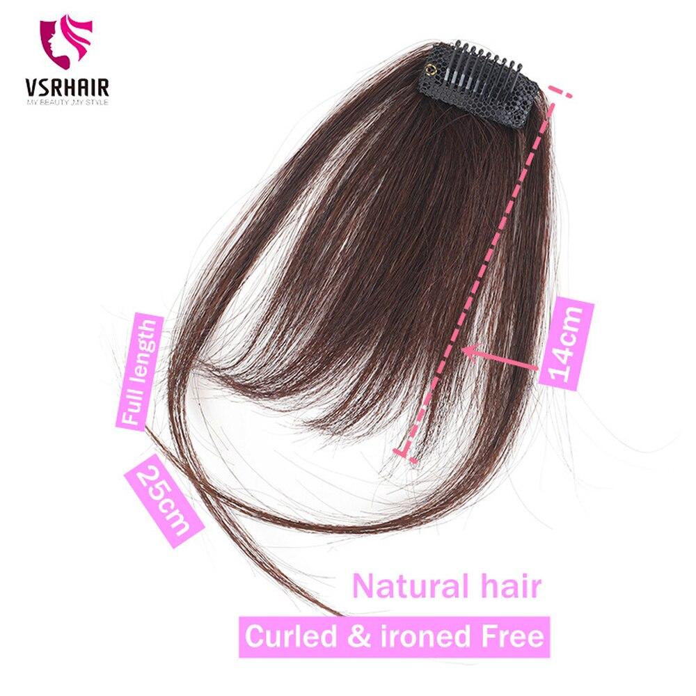 VSR włosów Bang włosy doczepiane Clip in jeden kawałek przodu Bang ludzkie przedłużanie włosów grzywka czarna peruka grzywka pasma z ludzkich włosów do wpinania na grzywka