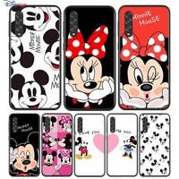 Negro de Mickey y Minnie BFF para Samsung Galaxy A90 A80 A70 A70S A60 A50 A40 A30 A30S A20S A20E A10 A10E teléfono caso