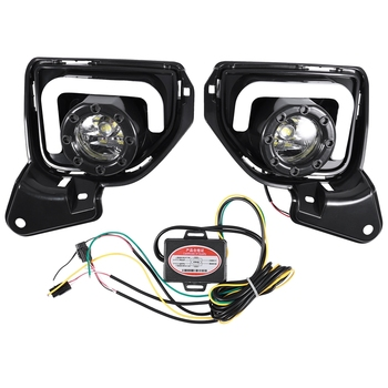 Car Fog Lamp Drl Daytime Running Light for Toyota Hiace 2014-2018 with Turn Signal