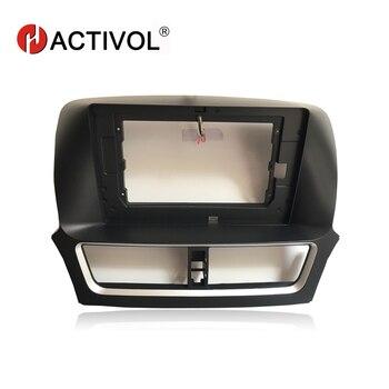HACTIVOL 2 Din Car Radio Stereo face plate Frame for FAW Besturn X80 2017 Car DVD Player panel dash mount kit Trim Bezel