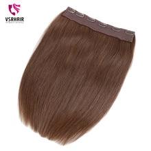 VSR Clip in Human Hair Easy Do Clip ins European Quality Hair Ends Machine Remy Hair Style 24inch Halo Hair Extension