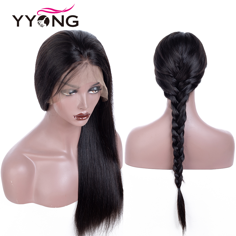 Yyong Hair Glueless Full Lace  Wigs With Baby Hair  Straight  Full Lace Wigs Low Ratio 3