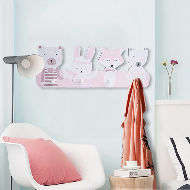 Home Decoration Room Hook Cute Children  Concise Hat Cloth Hook Wall Mounted Rack Storage Rack