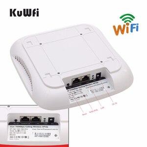 Image 5 - Point daccès sans fil KuWFi pour montage au plafond, routeur Wi Fi AP sans fil double bande avec routeur de plafond mural longue portée 48V POE