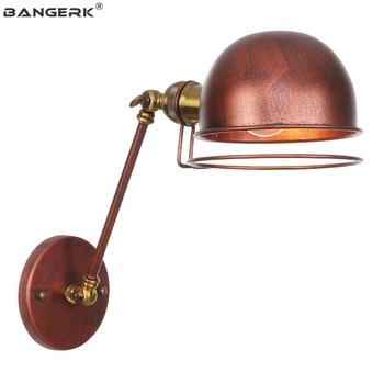American Industrial Long Arm LED Wall Light Retro Loft Iron Wall Lamps Folding Bedside Wall Lamp Home Decor Lighting Luminaire