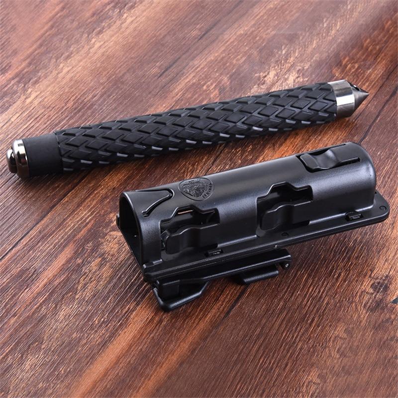 Universal Baton Holder , Extensible Black Baton Holder Case Pouch For Outdoor Police Baton Telescopic Self