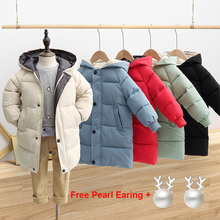 Down-Coat Outerwear Parka Long-Jackets Toddler Kids Winter Children's Cotton-Padded Teenage