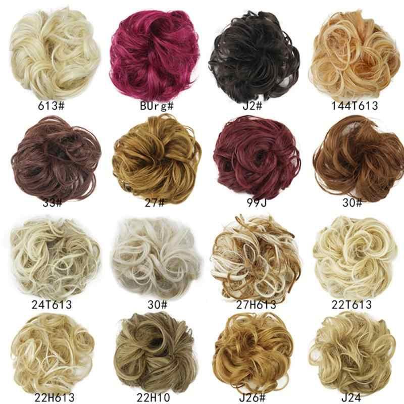 Extensiones sintéticas de moño para el cabello, extensiones de cabello, Coleta, Coleta, pelo Natural