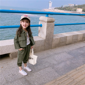 Image 5 - 2019 Autumn New Arrival Korean style cotton clothing sets casual jacket with harlen long pants fashion suit for baby girls boys