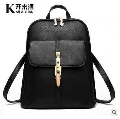 100% Genuine leather Women backpack  2019 new backpack  fashionista new spring and summer fashion leisure Korean women students